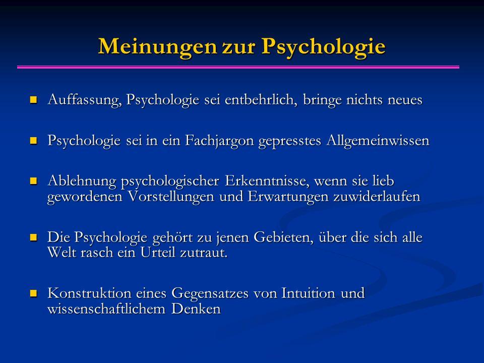 Meinungen zur Psychologie