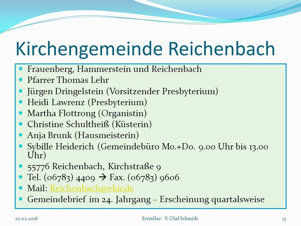 Kirchengemeinde Reichenbach