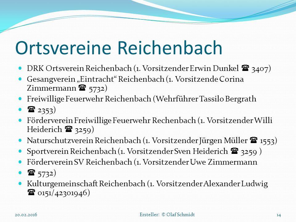 Ortsvereine Reichenbach