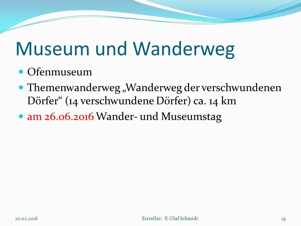 Museum und Wanderweg Ofenmuseum
