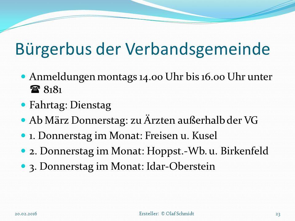 Bürgerbus der Verbandsgemeinde