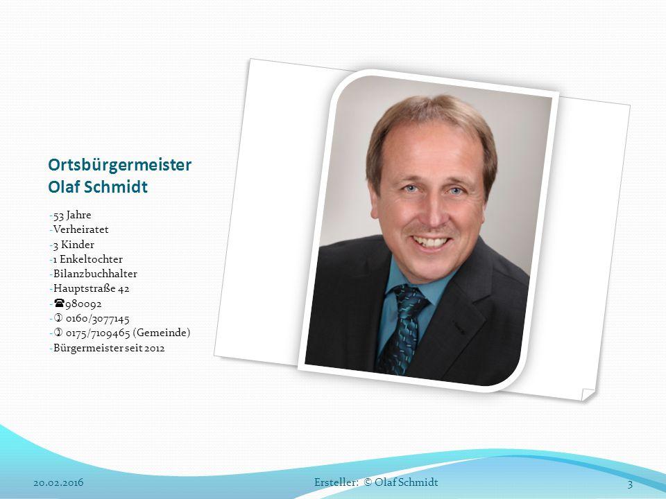 Ortsbürgermeister Olaf Schmidt