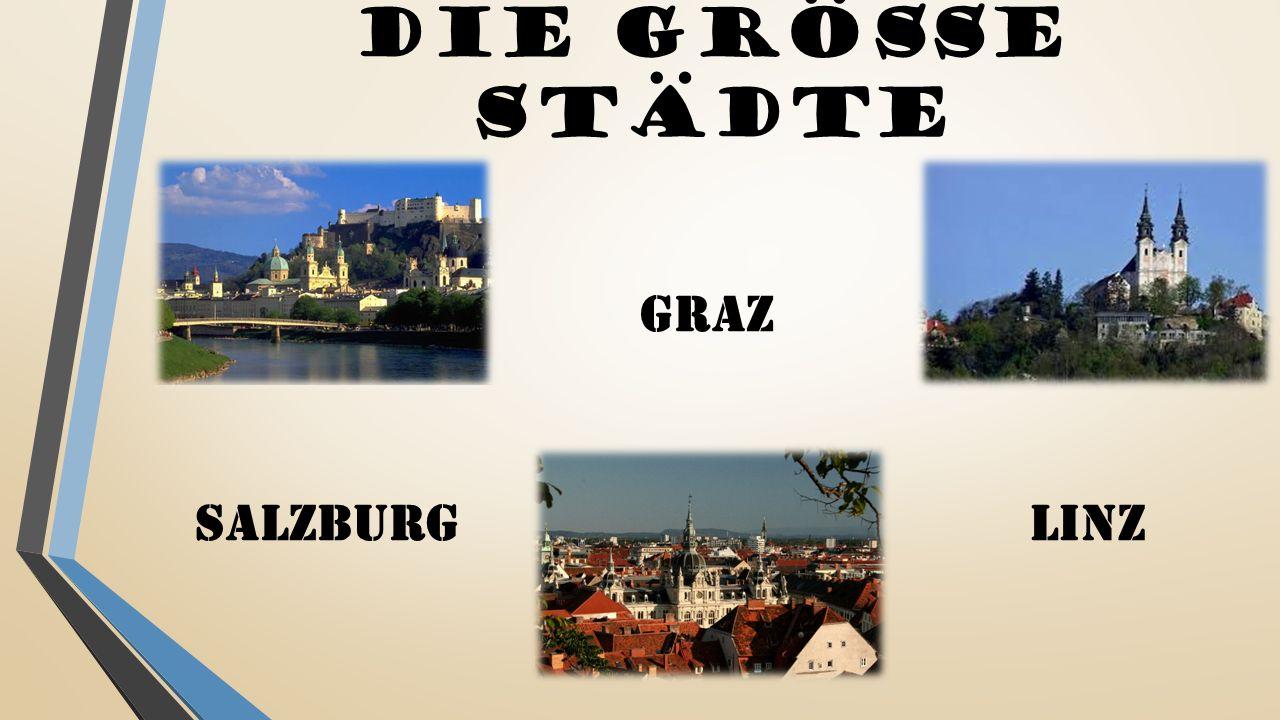 DIE Größe Städte GRAZ SALZBURG LINZ