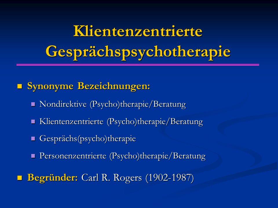Klientenzentrierte Gesprächspsychotherapie