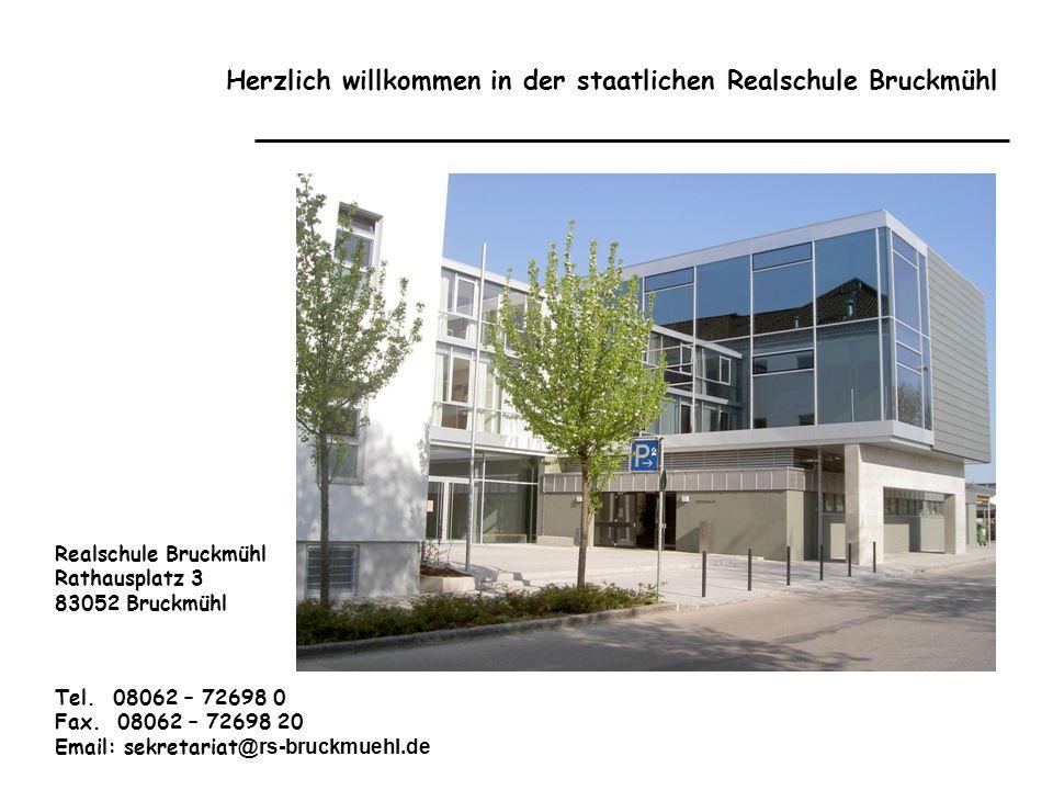 Herzlich willkommen in der staatlichen Realschule Bruckmühl