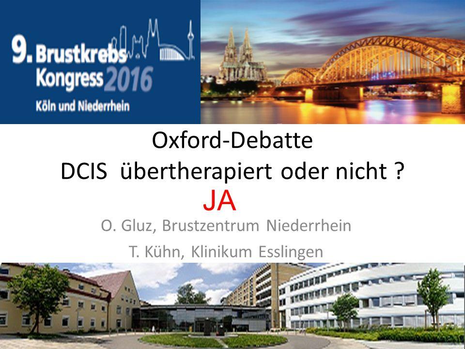 Oxford-Debatte DCIS übertherapiert oder nicht