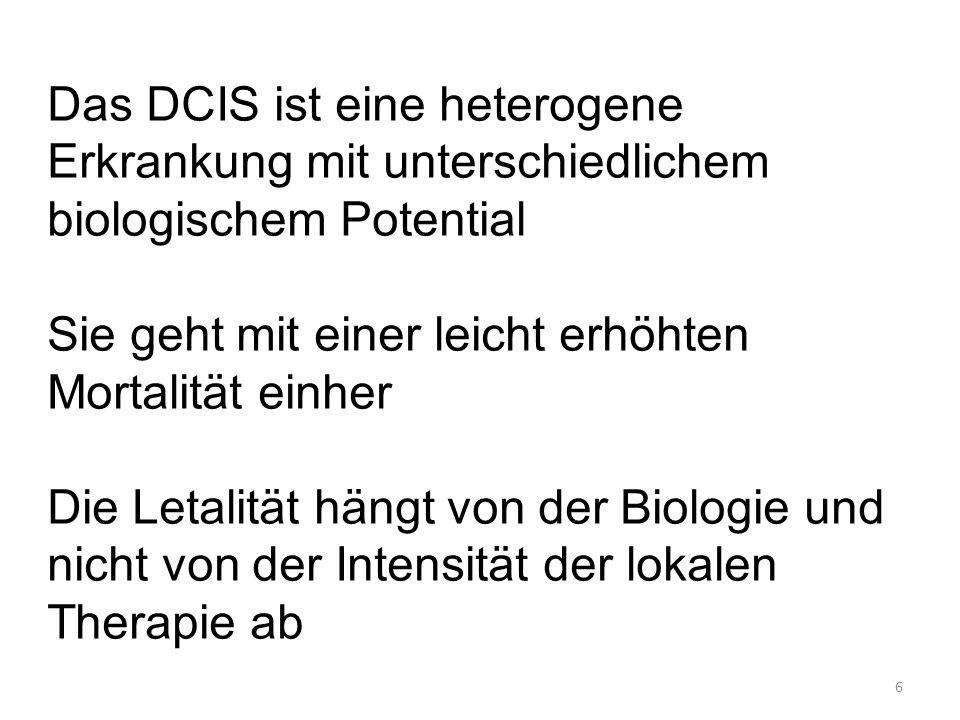 Das DCIS ist eine heterogene Erkrankung mit unterschiedlichem biologischem Potential