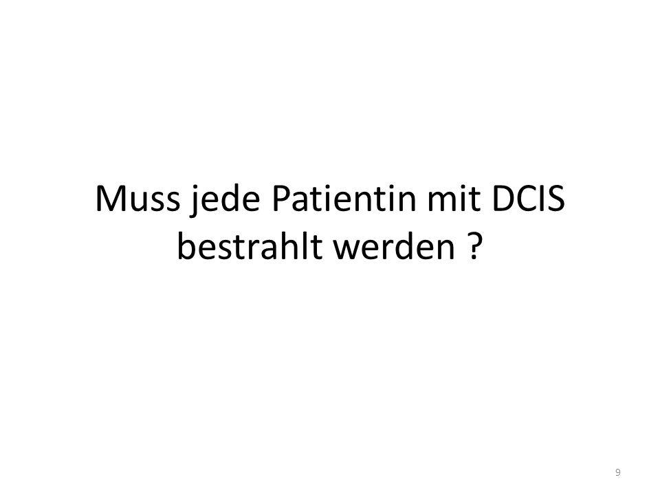 Muss jede Patientin mit DCIS bestrahlt werden