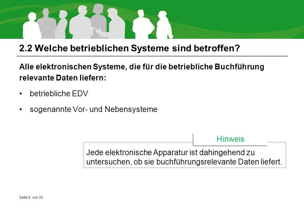 2.2 Welche betrieblichen Systeme sind betroffen