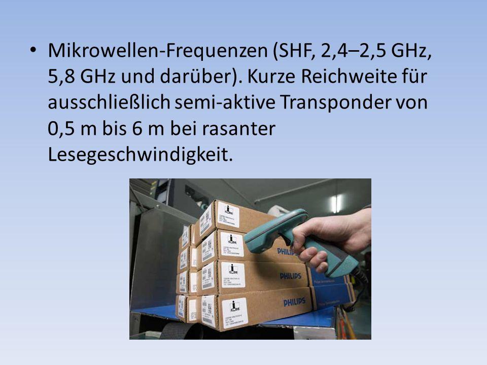 Mikrowellen-Frequenzen (SHF, 2,4–2,5 GHz, 5,8 GHz und darüber)