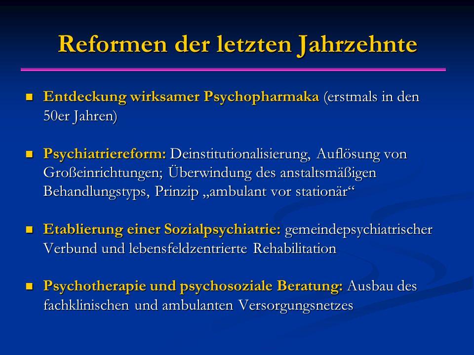 Reformen der letzten Jahrzehnte