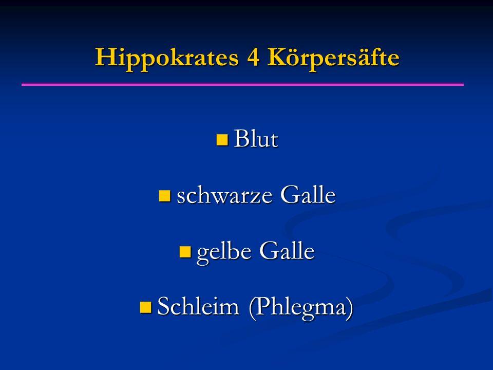 Hippokrates 4 Körpersäfte