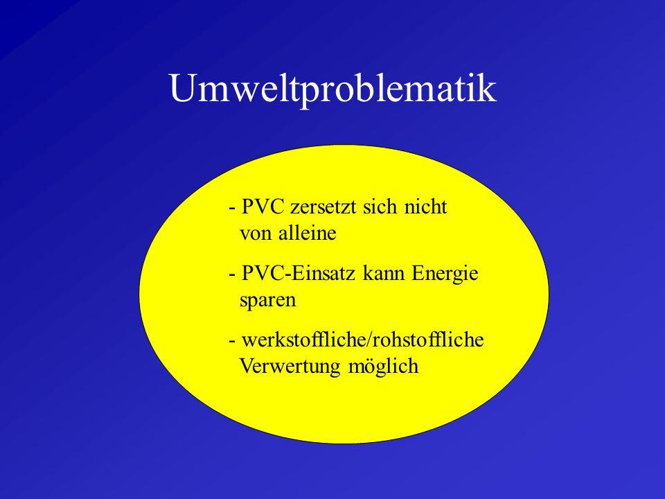 Umweltproblematik - PVC zersetzt sich nicht von alleine