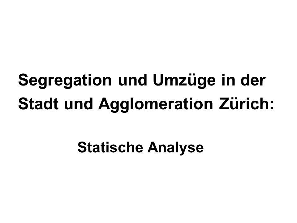 Segregation und Umzüge in der Stadt und Agglomeration Zürich: