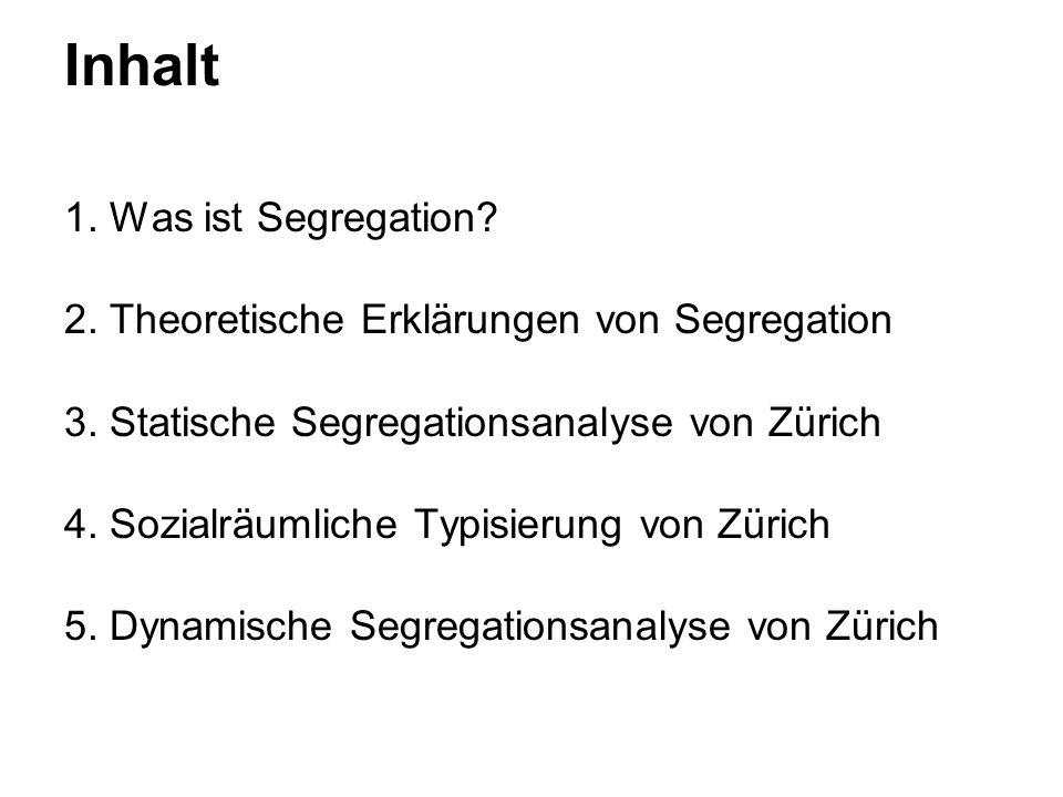 Inhalt 1. Was ist Segregation