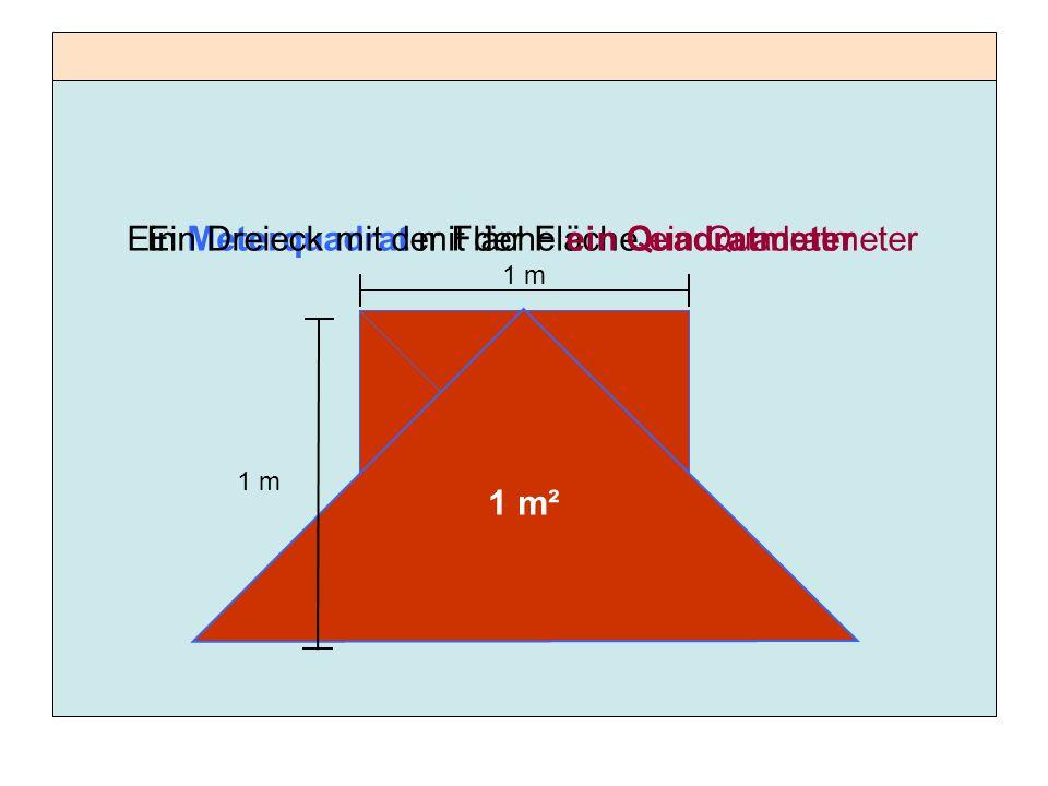 Ein Meterquadrat mit der Fläche ein Quadratmeter