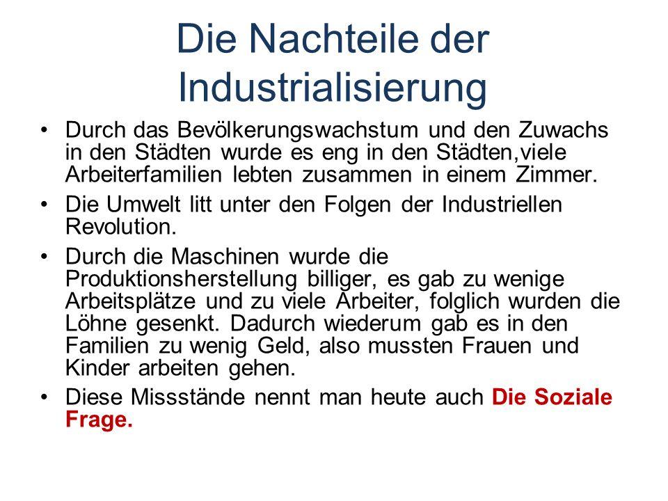 Die Nachteile der Industrialisierung