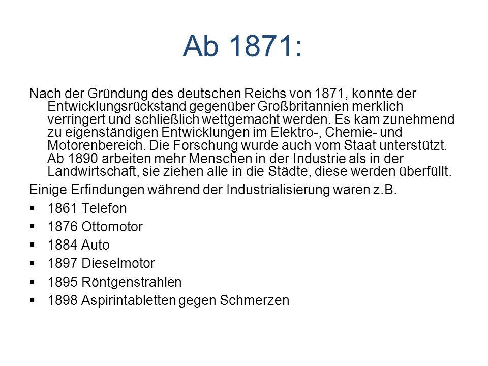 Ab 1871: