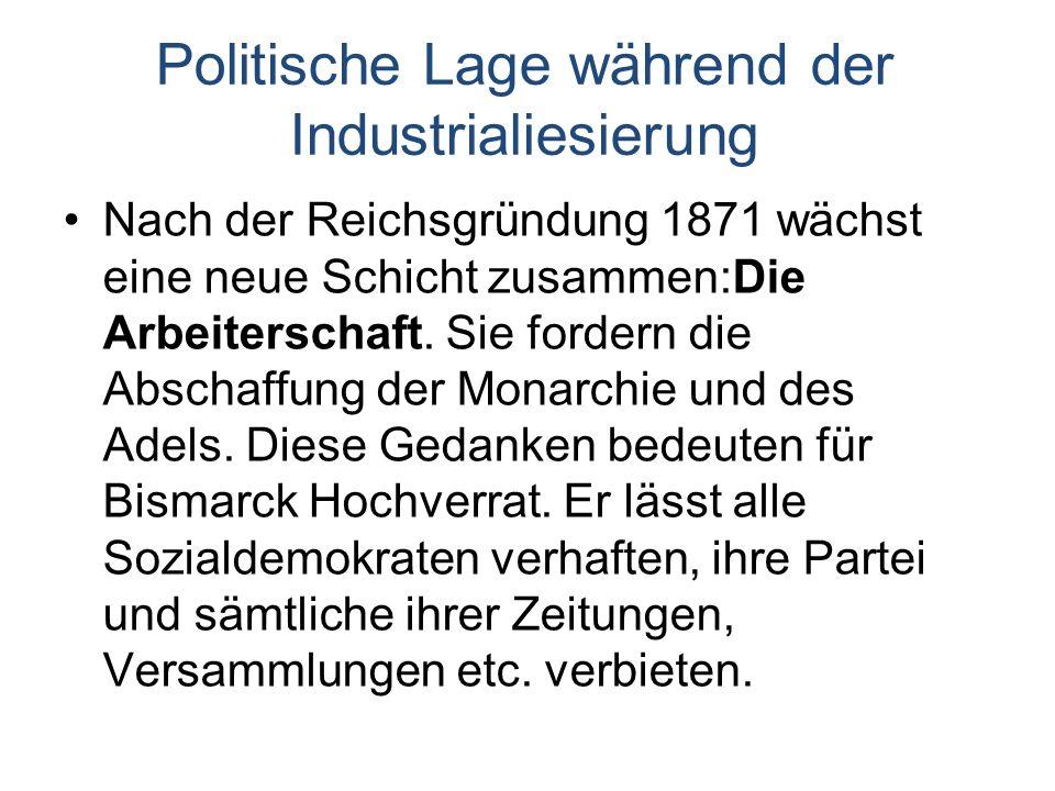 Politische Lage während der Industrialiesierung