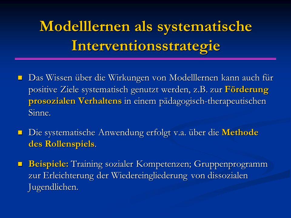 Modelllernen als systematische Interventionsstrategie