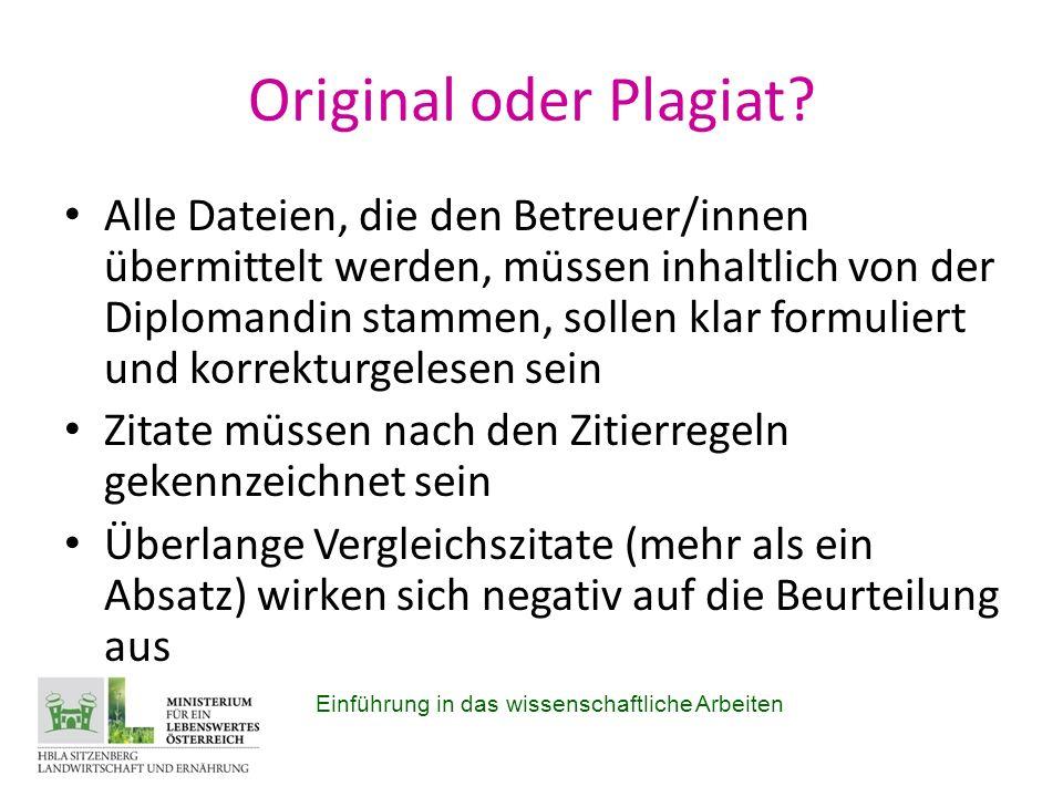 Original oder Plagiat