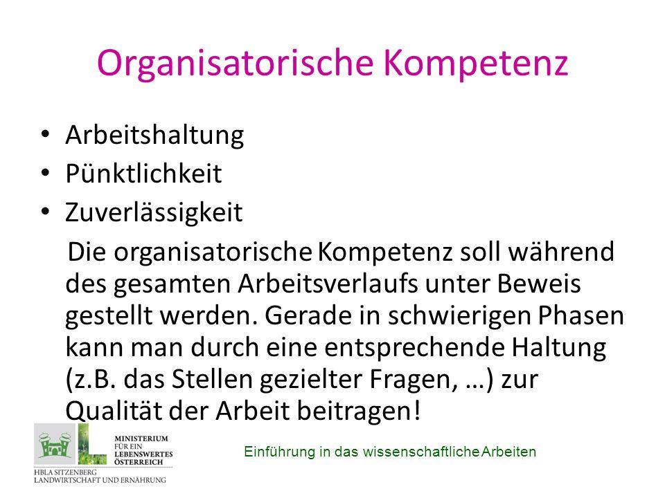 Organisatorische Kompetenz