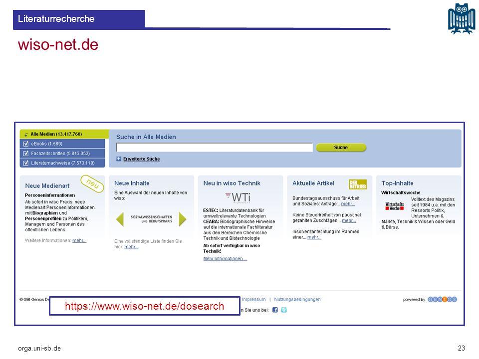 wiso-net.de https://www.wiso-net.de/dosearch Literaturrecherche