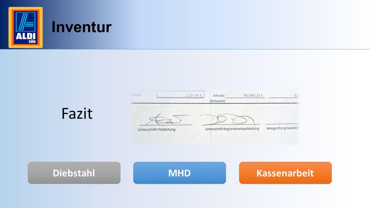 Inventur Fazit Diebstahl MHD Kassenarbeit
