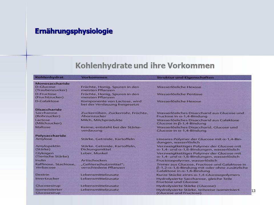 Ernährungsphysiologie