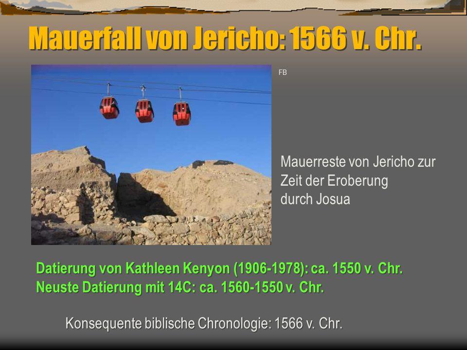 Mauerfall von Jericho: 1566 v. Chr.