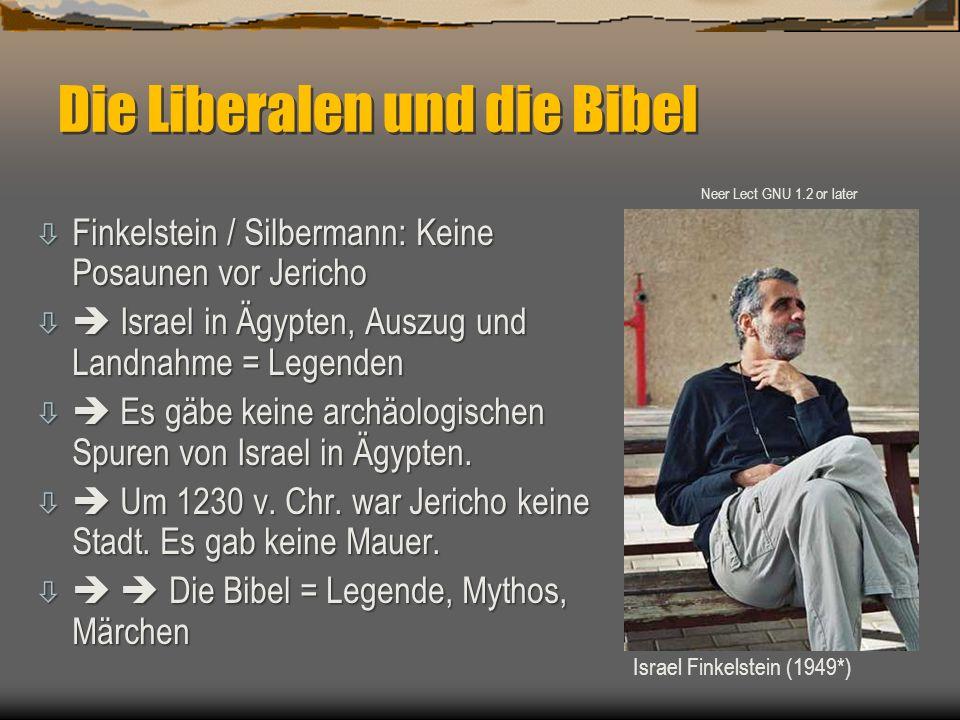 Die Liberalen und die Bibel