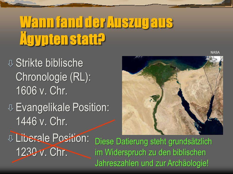 Wann fand der Auszug aus Ägypten statt