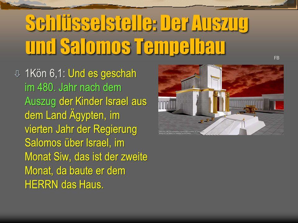Schlüsselstelle: Der Auszug und Salomos Tempelbau