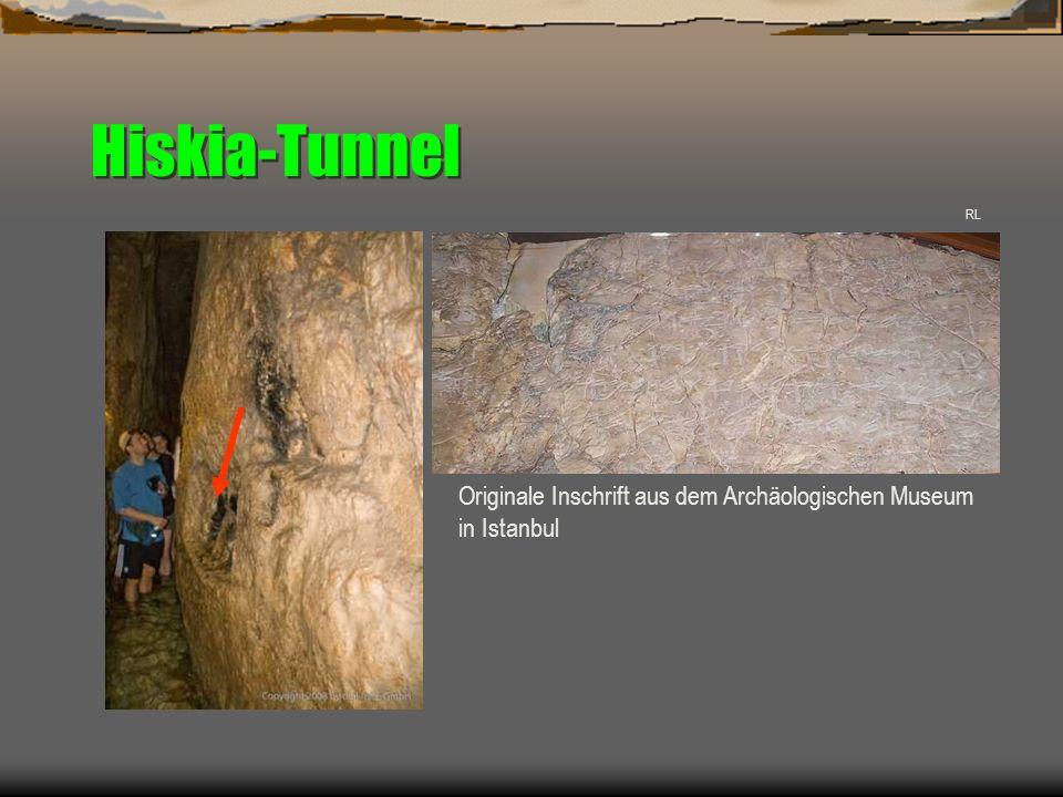 Hiskia-Tunnel Originale Inschrift aus dem Archäologischen Museum
