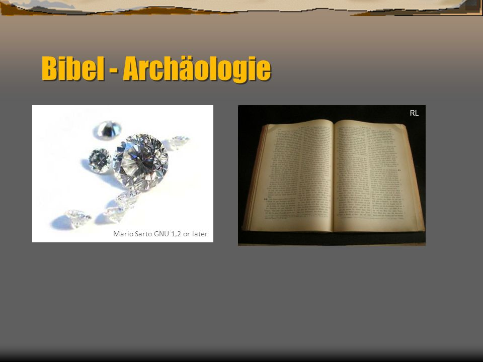 Bibel - Archäologie RL Mario Sarto GNU 1,2 or later