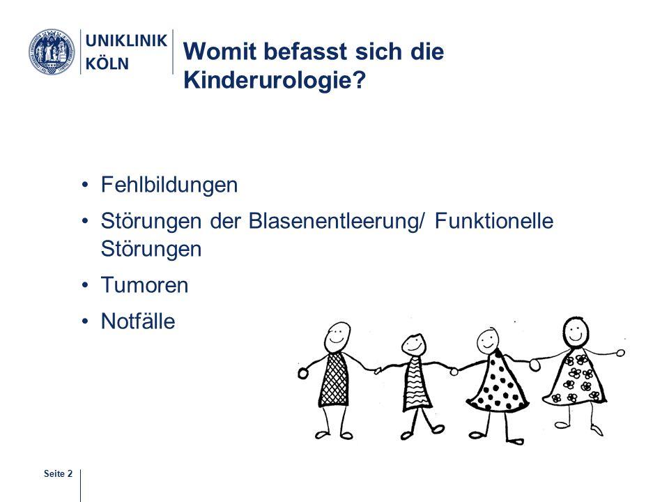 Womit befasst sich die Kinderurologie