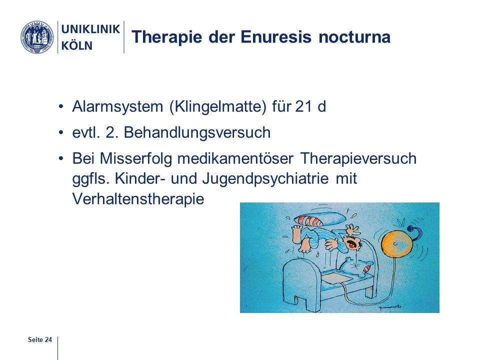 Therapie der Enuresis nocturna