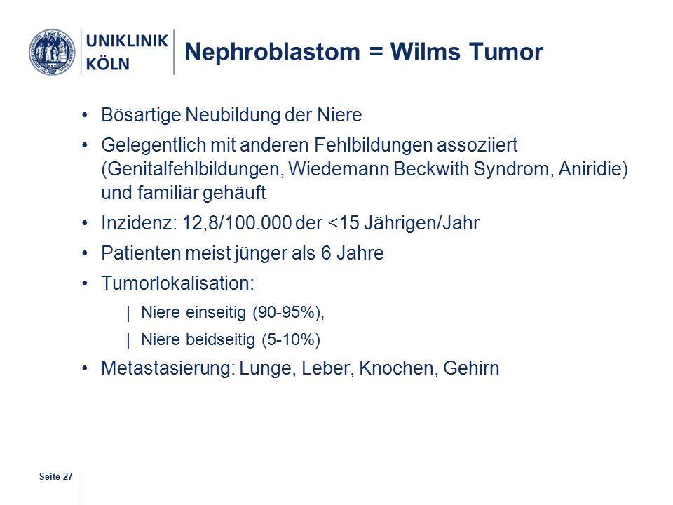Nephroblastom = Wilms Tumor