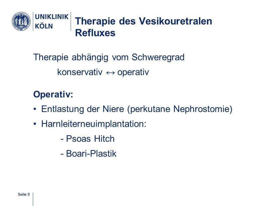 Therapie des Vesikouretralen Refluxes