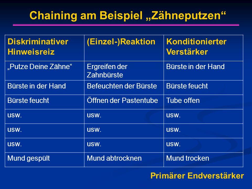 """Chaining am Beispiel """"Zähneputzen"""