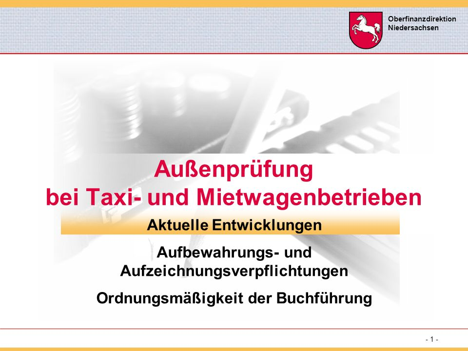 Außenprüfung bei Taxi- und Mietwagenbetrieben
