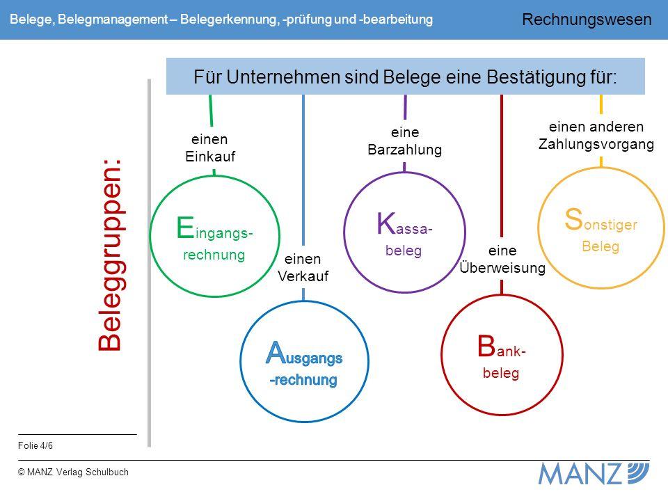 Sonstiger Beleg Kassa-beleg Eingangs-rechnung Beleggruppen: Bank-beleg