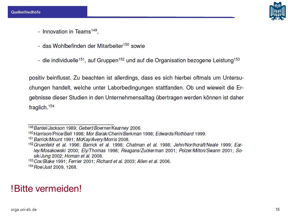 Quellenfriedhöfe !Bitte vermeiden! orga.uni-sb.de