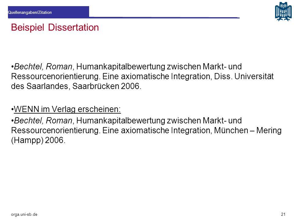 Beispiel Dissertation