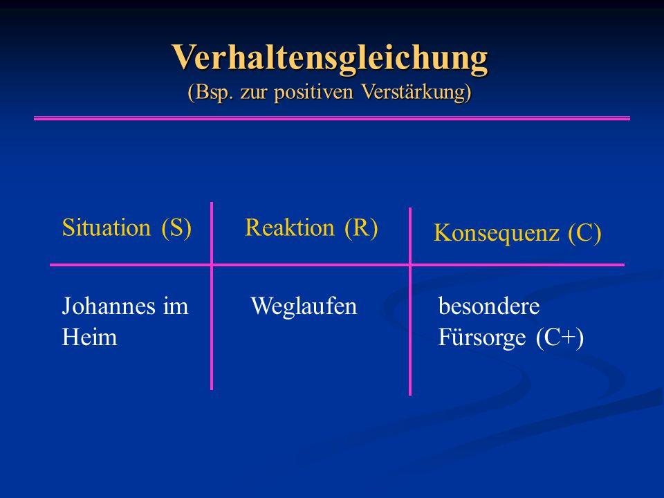 Verhaltensgleichung (Bsp. zur positiven Verstärkung)