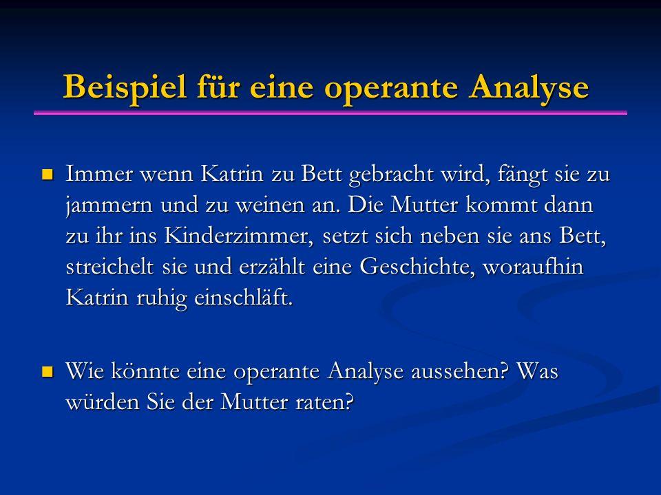 Beispiel für eine operante Analyse