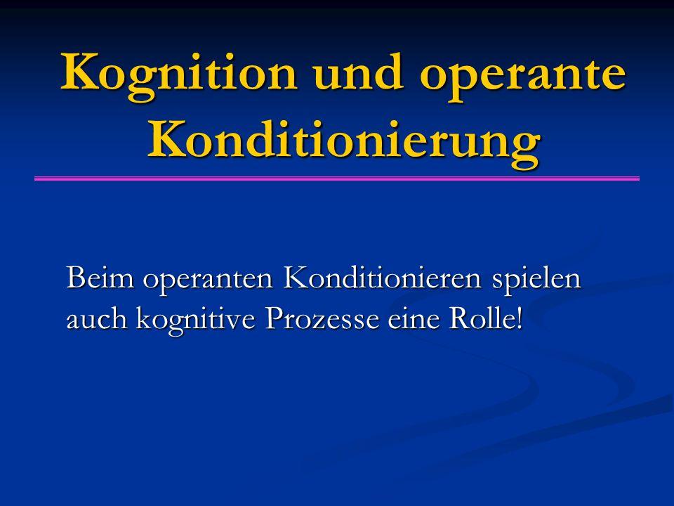 Kognition und operante Konditionierung