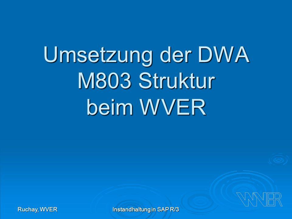 Umsetzung der DWA M803 Struktur beim WVER