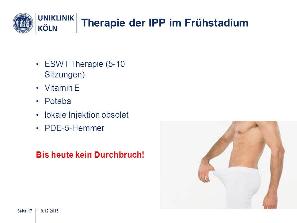 Therapie der IPP im Frühstadium