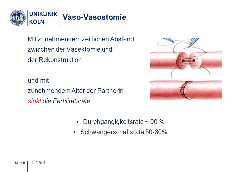 Vaso-Vasostomie Mit zunehmendem zeitlichen Abstand